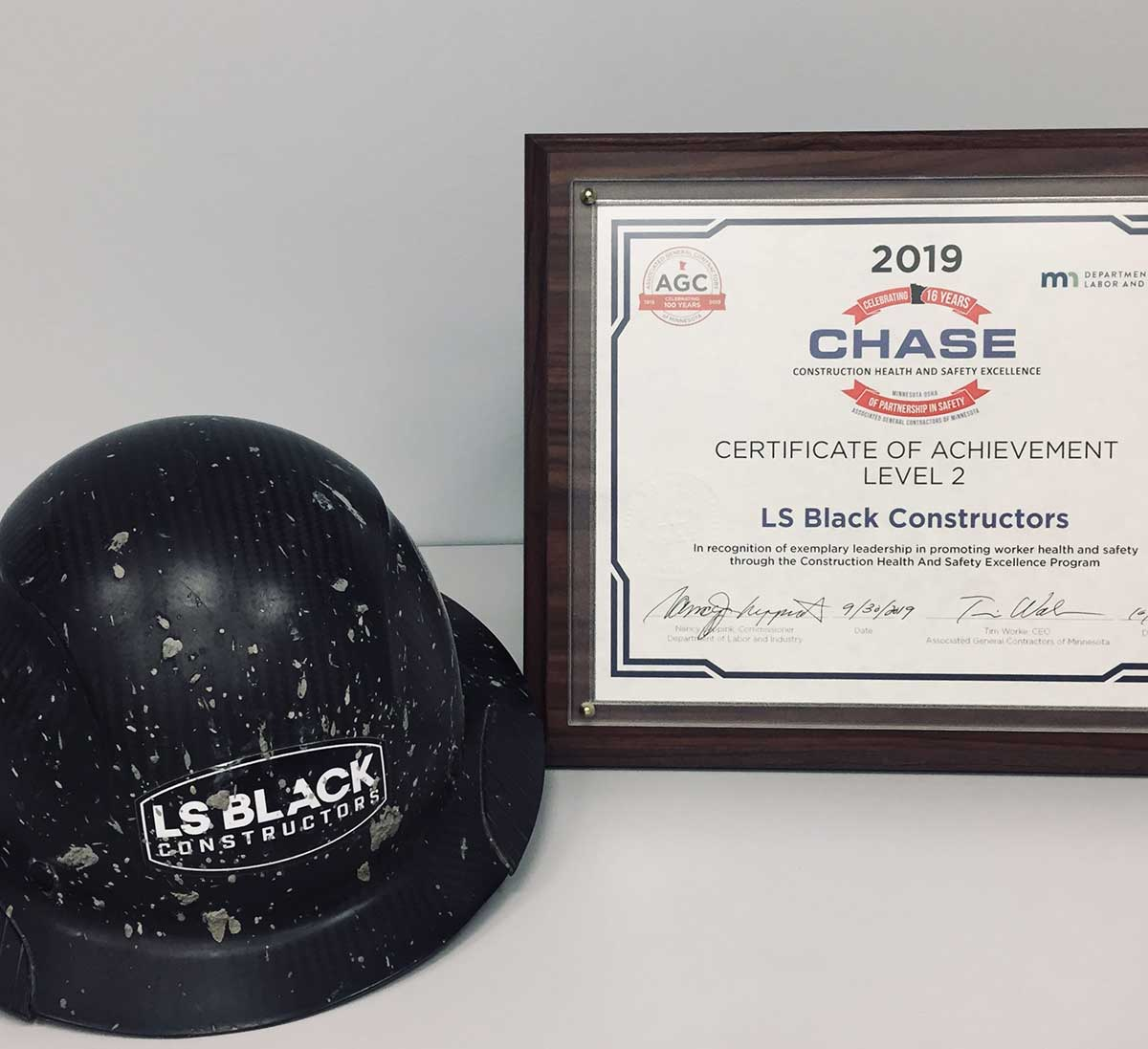 LS Black Received 2019 AGC Chase Safety Award