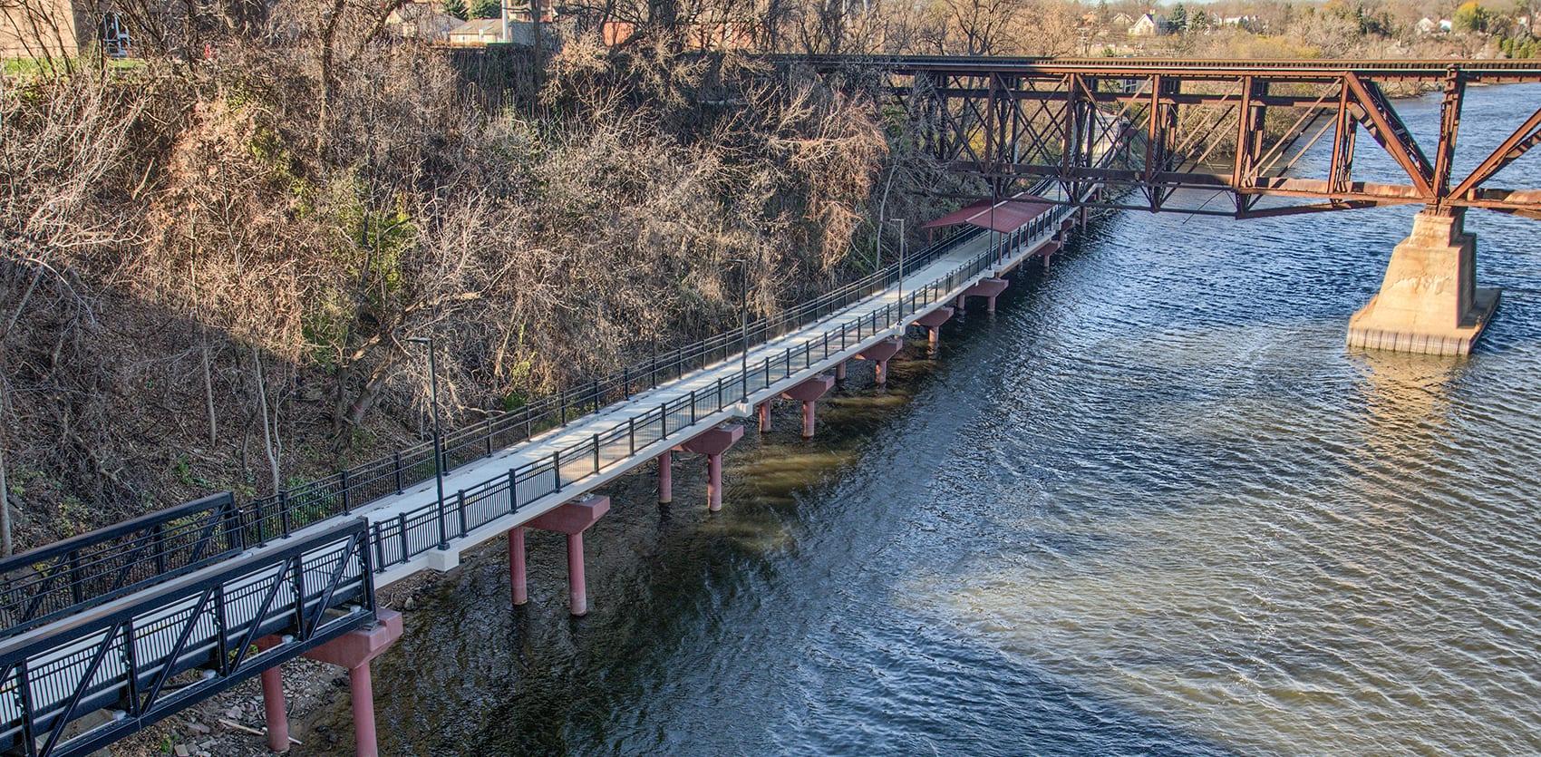 Beaver Island Bike Path and Pedestrian Bridge